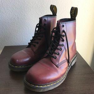 Dr. Martens unisex maroon boots